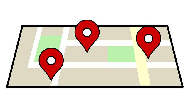 umístění dle navigace
