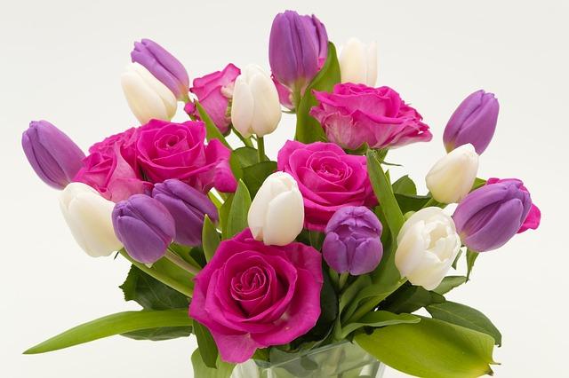 tulipány a růže