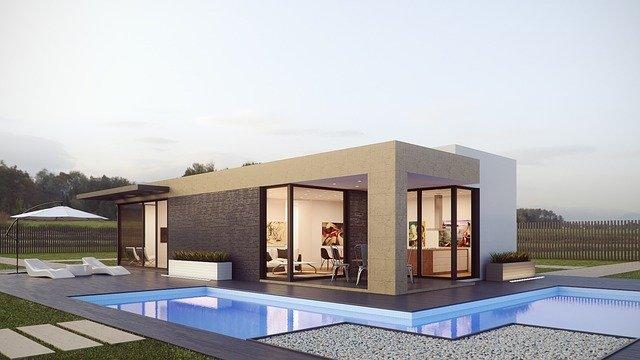 malý dům s bazénem